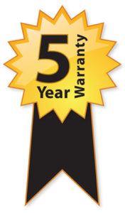 5 Year Warranty Ribbon Graphic