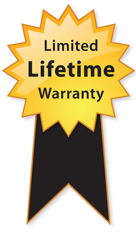 Limited Lifetime Warranty Ribbon Image